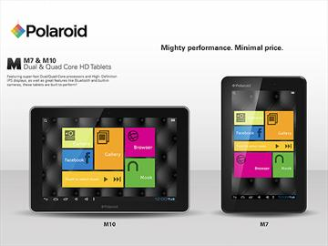 Polaroid推M7、M10平板 點名挑戰iPad mini【CES 2013】