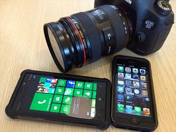 NOKIA Lumia 928、iPhone5對決單眼5D3跨界火拼!